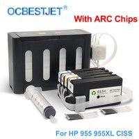 Для hp 955XL 955 XL СНПЧ непрерывной подачи чернил Системы для hp Officejet Pro 7740 8730 8740 8735 8715 8720 8725 с ARC чипов