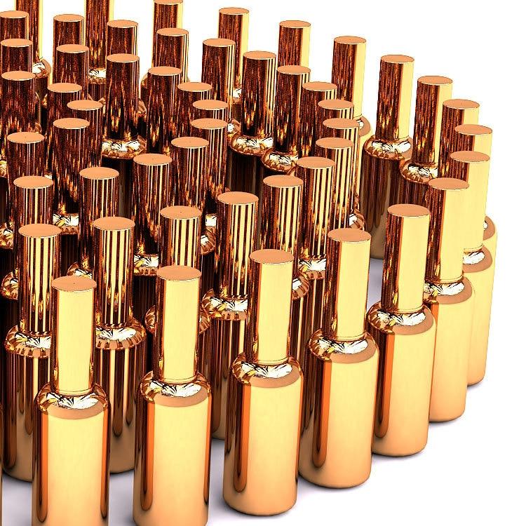 10pcs 30ml 30cc 1OZ High Grade gold plated spray bottle empty diy glass vials essentical oil