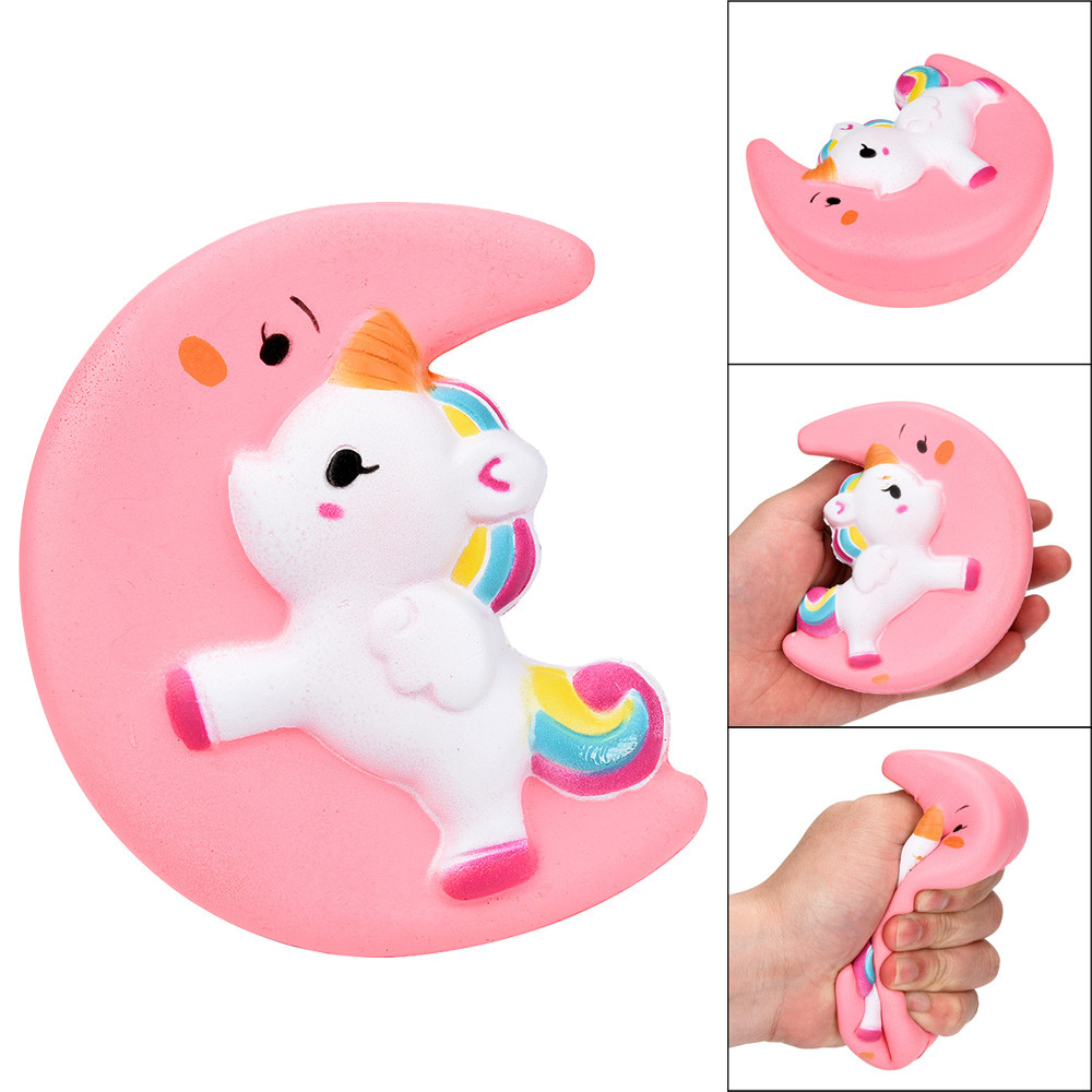 Squishy Toy Cute Moon Unicorn Scented Cream Slow Rising Squeeze Toy Fun Anti Stress Decompression Toys Oyuncak #9129