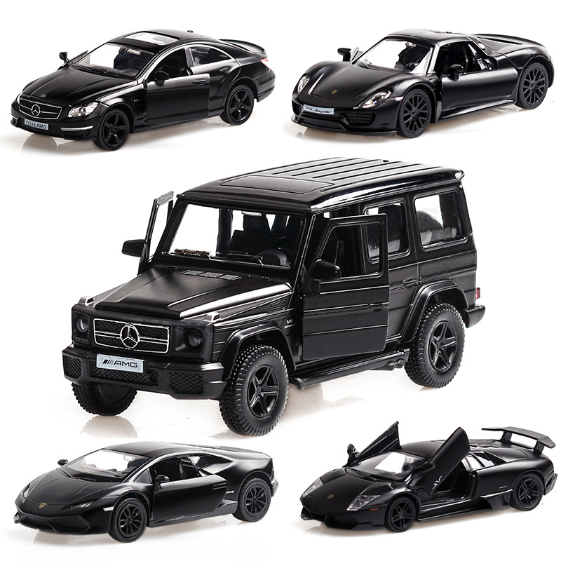1 36 Corvette Camaro G63 Grinding Black Alloy Car Model Simulation Kids Die cast Vehicles Toys