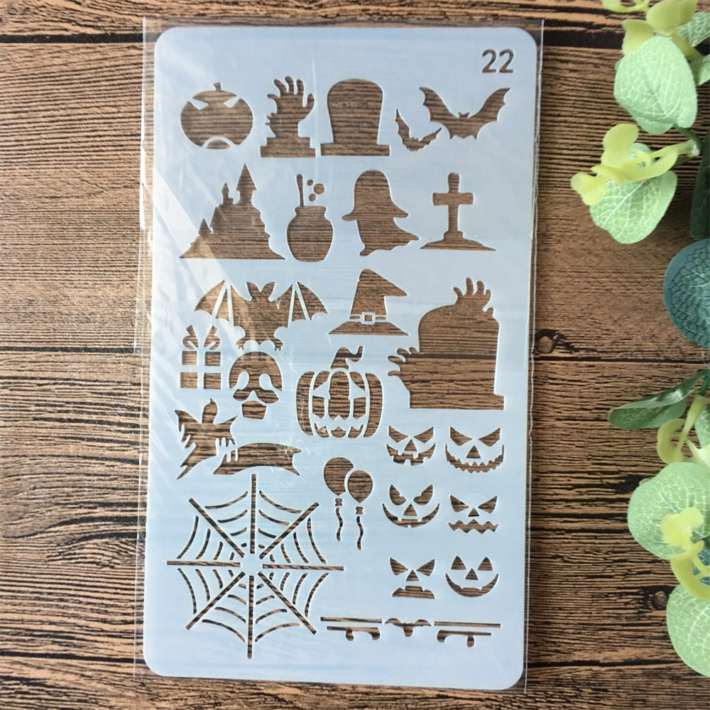 18cm Halloween Children DIY Layering Stencils Painting Scrapbook Coloring Embossing Album Decorative Paper Card Template