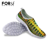 Concise Design Printing Sneakers Summer Casual Breathable Air Mesh Outdoor Shoes Light Trainers