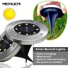 цена на 4 LED 8 LED Solar Power Buried Light Under Ground Lamp Outdoor Path Way Garden Lawn Yard Outdoor Underground  Lighting Lamps