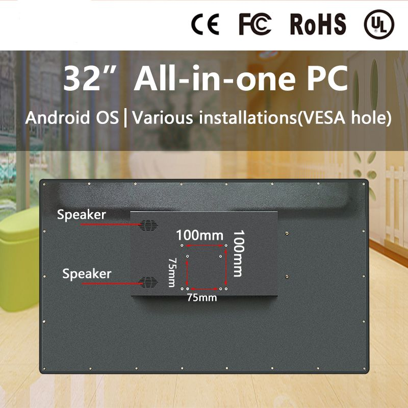 New Products Vesa Wall Mount 21.5, 22,32 Inch HD Waterproof Touch Screen