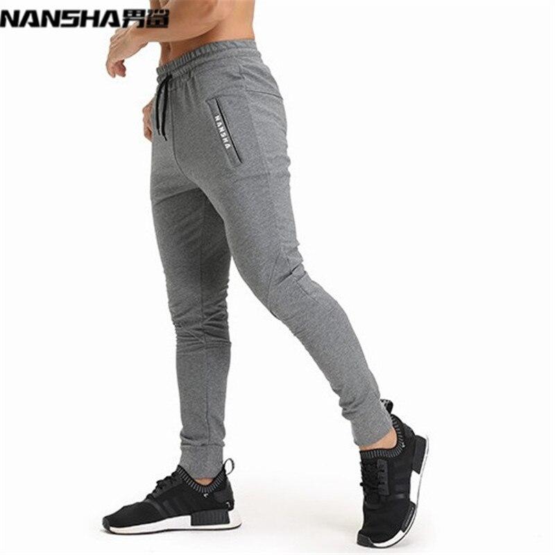NANSHA Brand Gyms Men Joggers Casual Men Sweatpants Joggers Pantalon Homme Trousers Sporting Clothing Bodybuilding Pants