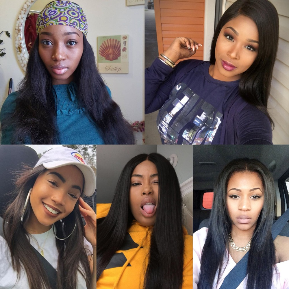 Image 5 - Rosabeauty 28 30 40 Inch Brazilian Weave Bundles Natural Color Straight 3 4 Bundles With 5X5 Lace Closure Remy Human Hair and-in 3/4 Bundles with Closure from Hair Extensions & Wigs