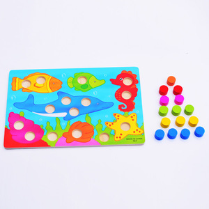 Image 3 - 1 Set Wooden Toys Puzzles Tangram Jigsaw Board Educational Early Learning Cartoon Wood Puzzles Kids Toys for Children