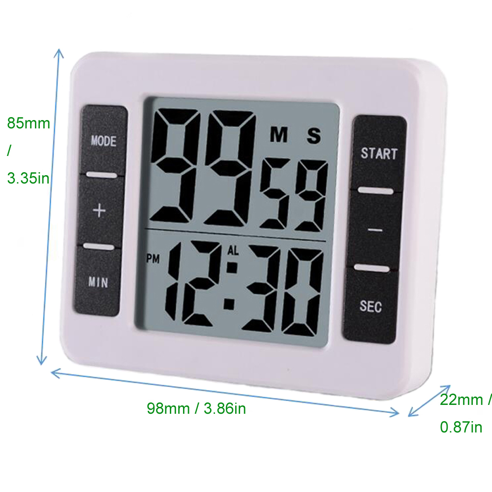 Kitchen Electronic Digital Timer Cooking Alarm Reminder Counting /& Countdown
