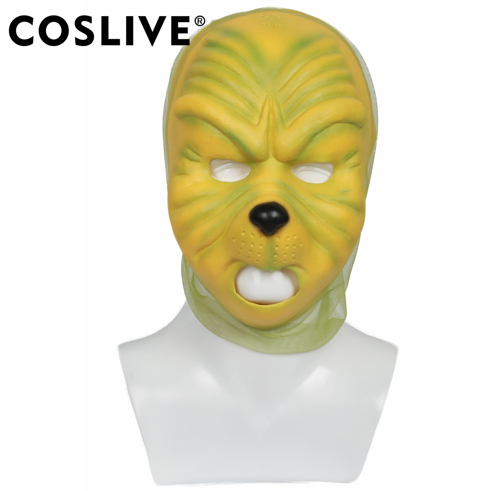 Grinch That Stole Christmas.Us 32 02 35 Off Coslive How The Grinch Stole Christmas Movie The Grinch Cosplay Mask Costume Helmet Prop For Christmas Halloween Party Show In Anime
