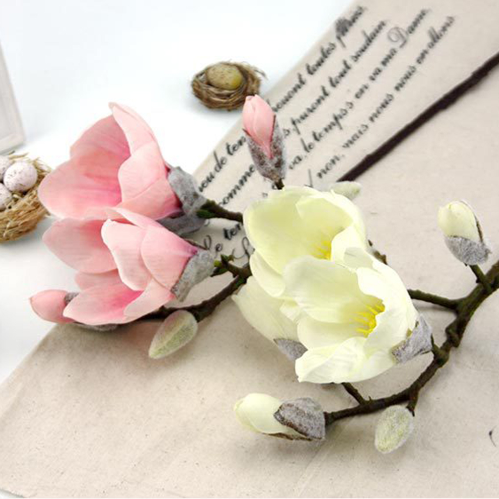 Cheap sale simulation silk flowers magnolia artificial flowers art cheap sale simulation silk flowers magnolia artificial flowers art plant wedding home decoration in artificial dried flowers from home garden on mightylinksfo