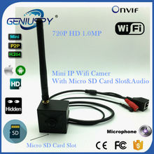 1MP HD Video Surviallance P2P Mini Wireless Wifi Ip Camera With Micro Sd Card Slot 720P HD IP Cam WIFI Onvif 2.0 Microphone