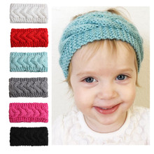 Фотография 2PC Baby Hair Bow Cute Lace Bow Headwrap Toddler  Girl Hats Lovely Stretchy Lace Hairband Infant Headware