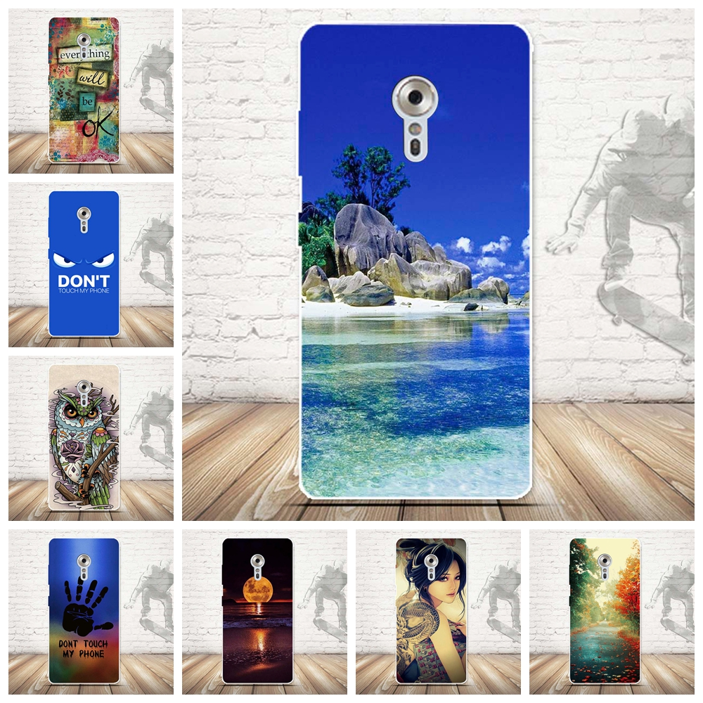 Skull Pattern Case Cover for Lenovo ZUK Z2 Pro Transparent Soft Silicone Cell Phone Case Cover Ultra Soft TPU Back Capa Shell