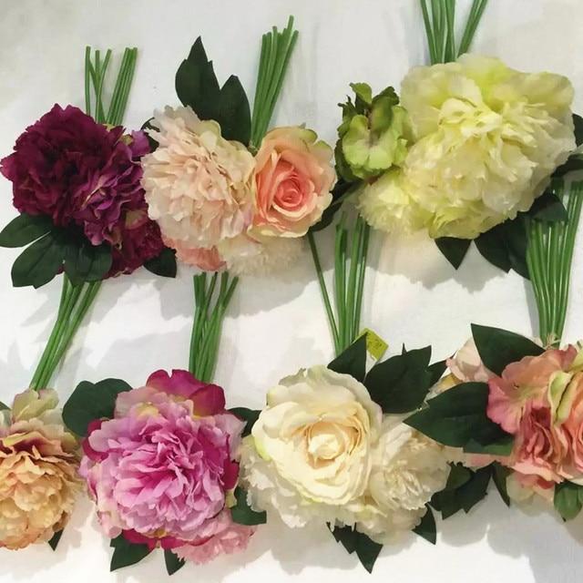 Wholesale 80 bride wedding flower peony bundle silk rose bouquet wholesale 80 bride wedding flower peony bundle silk rose bouquet flower rose silk flower floral even mightylinksfo