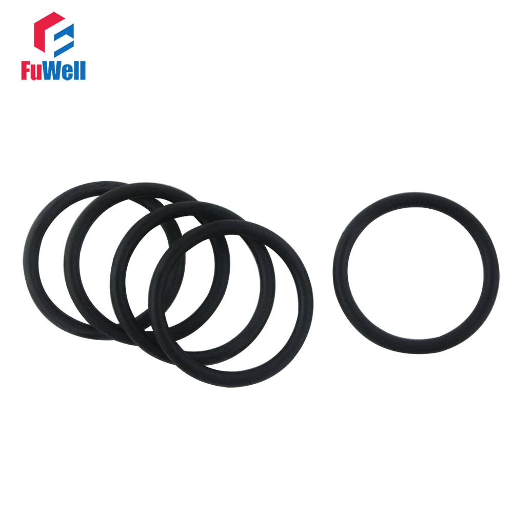 30 Pieces 25mm x 1.5mm Rubber O-Rings Heat-Resistant Sealing Ring washers NBR