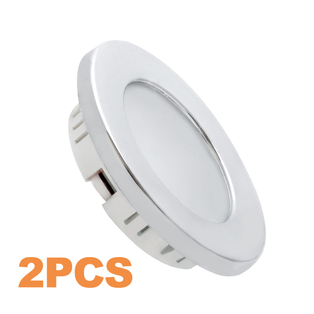 aliexpress com buy 2x 12v led recessed down light chrome plated