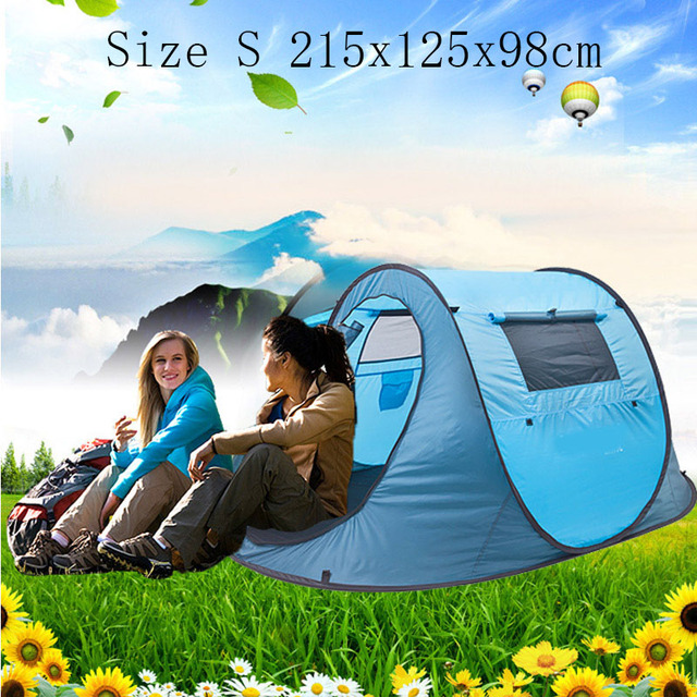 DANCHEL Size S 215x125x98cm Automatic Pop Up Tent with 1-2 person for family c&ing & DANCHEL Size S 215x125x98cm Automatic Pop Up Tent with 1 2 person ...