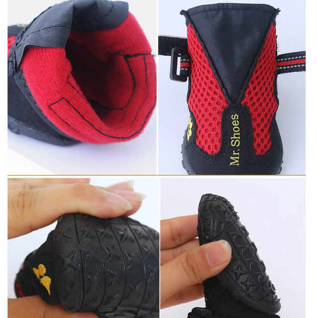 Waterproof Black Dog Shoes For Large Dogs Anti-slip Shoes Hiking Dog Clothing & Shoes For Yorkshir Orange Winter Shoes For Dogs 5