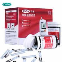50/100pcs Cofoe YiLi Blood Glucose Test Strips and Lancets Needles Only for YiLi Blood Glucose Meter Diabetes Monitor