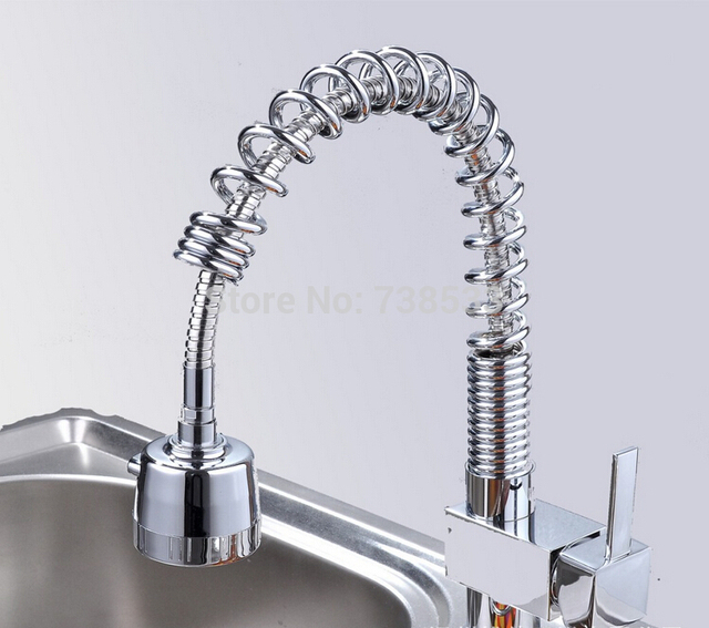 High Quality Big Spring Pull Mixer Tap Rotatable Kitchen Faucet