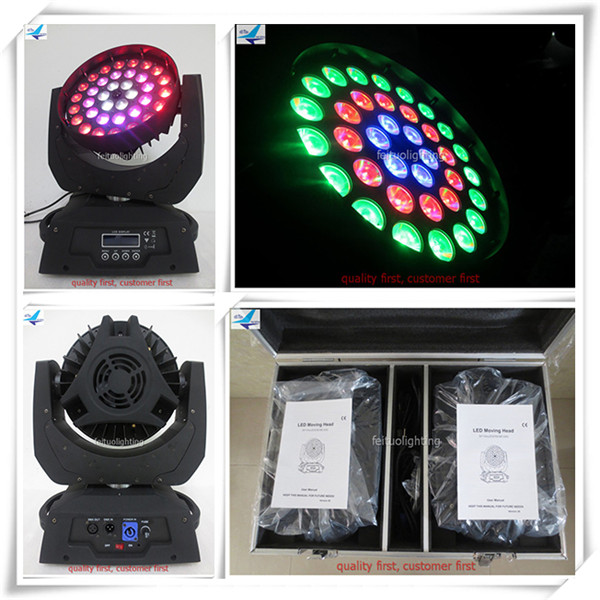 (Cas De vol) dmx led wash lyres 36x18 w led moving head light wash copie robe robin 600