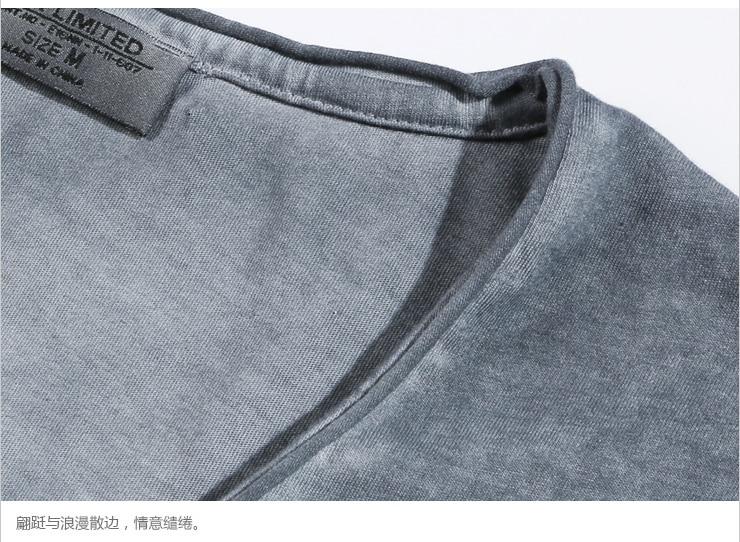 Camiseta Hombre Marca Vintage retro camiseta Hombre Sólido Casual - Ropa de hombre - foto 6