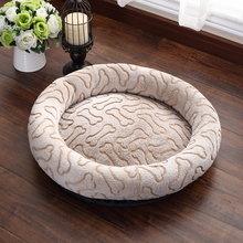 лучшая цена JORMEL Deep Sleep Dog House Kennel Round Nest Autumn Winter Cat Mattress for Small Medium Dogs Dog Bed Cat House