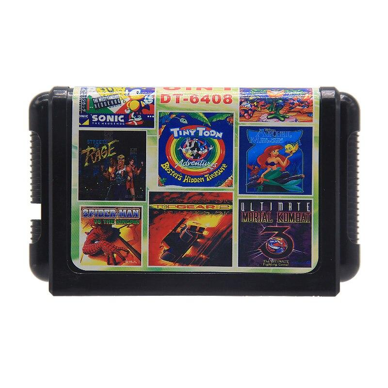 Game Card for SEGA 16 BIT Game 18 in 1/13 in 1/11 in 1/8 in 1/1 for YuYu Hakusho special game card for 16 Bit Sega Mega Drive