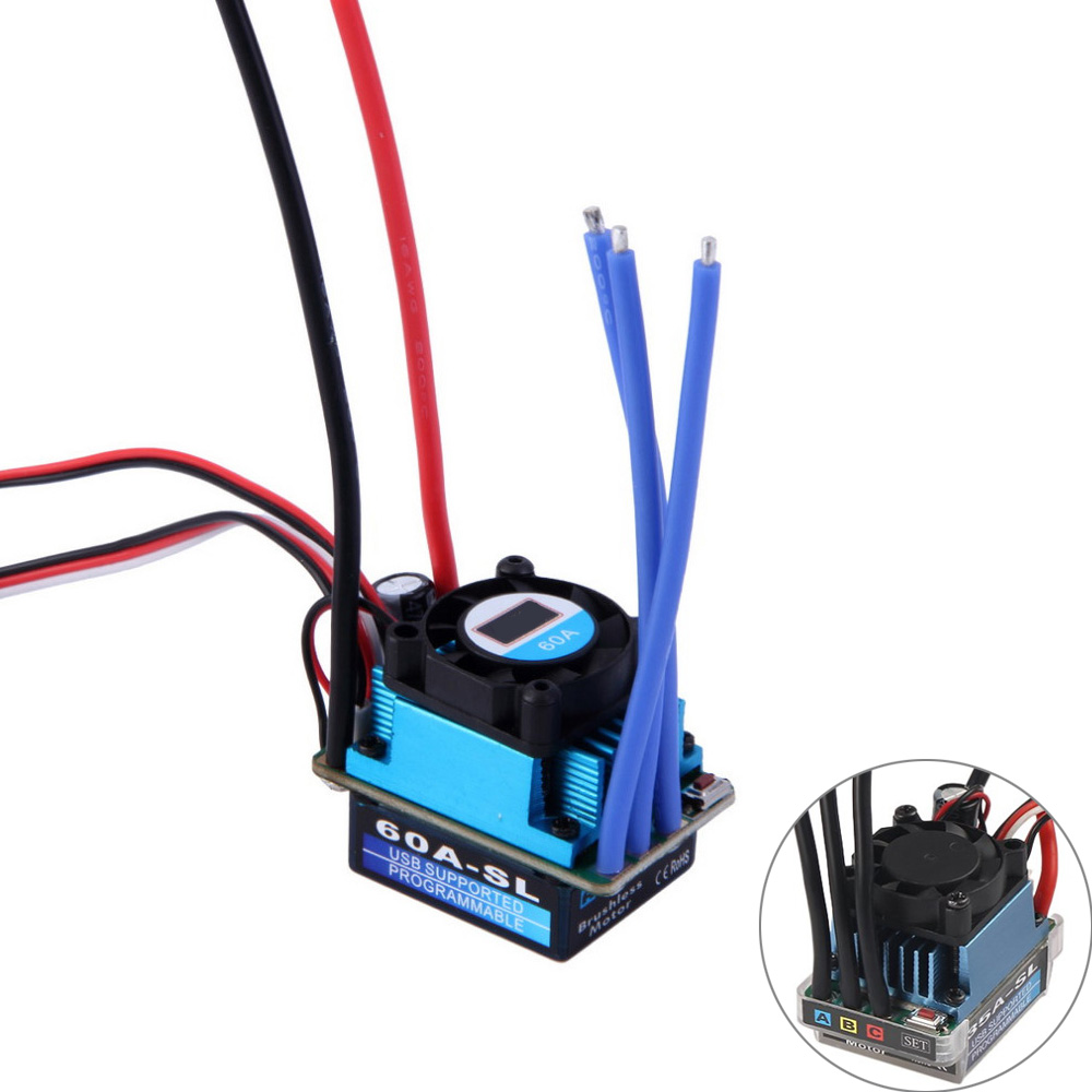 RC Racing 25A 35A 60A SL Brushless Speed Controller ESC for RC 1/10 1:10 1:12 Car Truck Drop freeshipRC Racing 25A 35A 60A SL Brushless Speed Controller ESC for RC 1/10 1:10 1:12 Car Truck Drop freeship