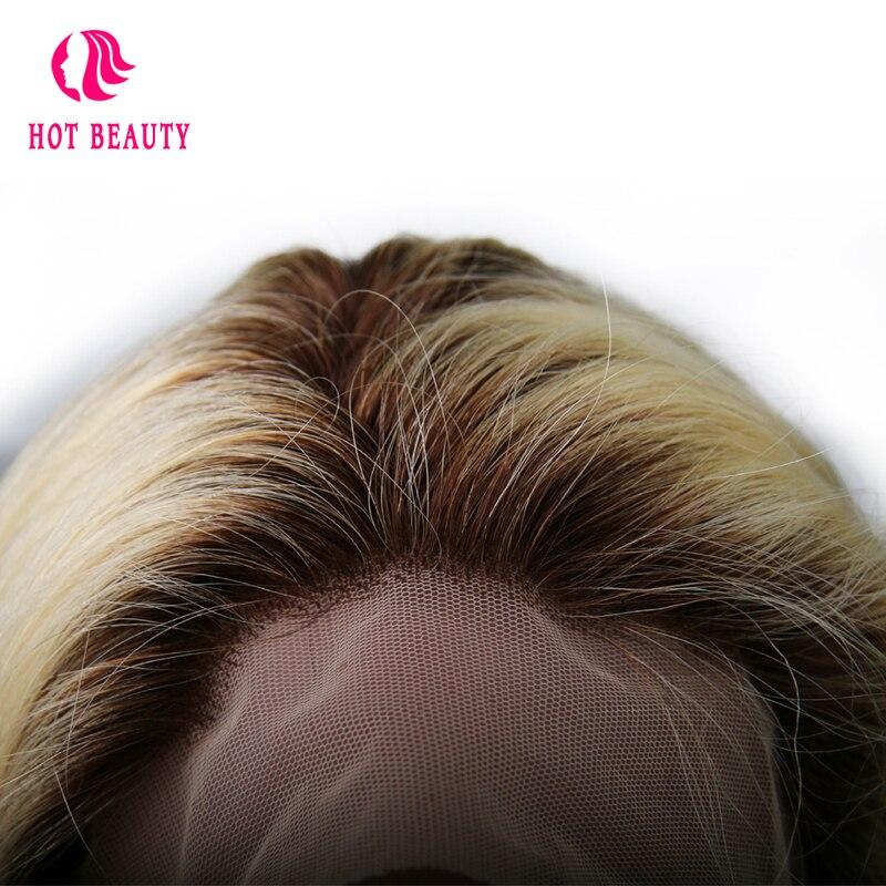 Kuumad juuksed juuksed täis pitsi inimese juuksed parukad beebi - Inimeste juuksed (must) - Foto 5