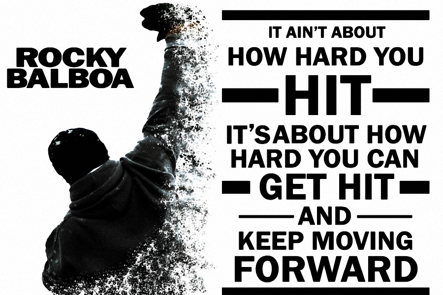 DIY frame Rocky Balboa Keep Moving Forward. Motivational ...