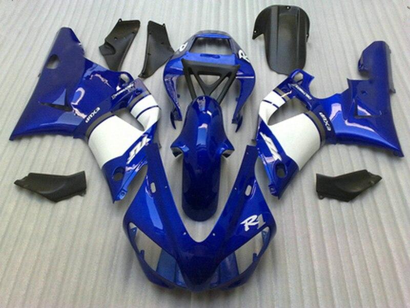 Литья под давлением Комплект для Yamaha R1 1998 1999 Обтекатели синий белый YZF R1 98 99 Обтекатель Набор TT93