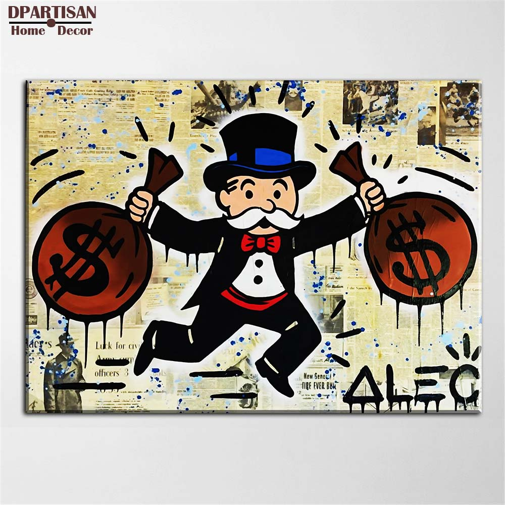 Alec monopoly doppel pack idee riesige neue Graffiti kunstdruck auf ...