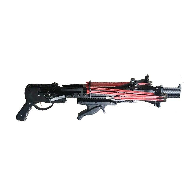 Semi automatique fronde chasse pêche arc puissant catapulte bobine multifonction en acier balle munitions flèche tir continu 40BB - 2