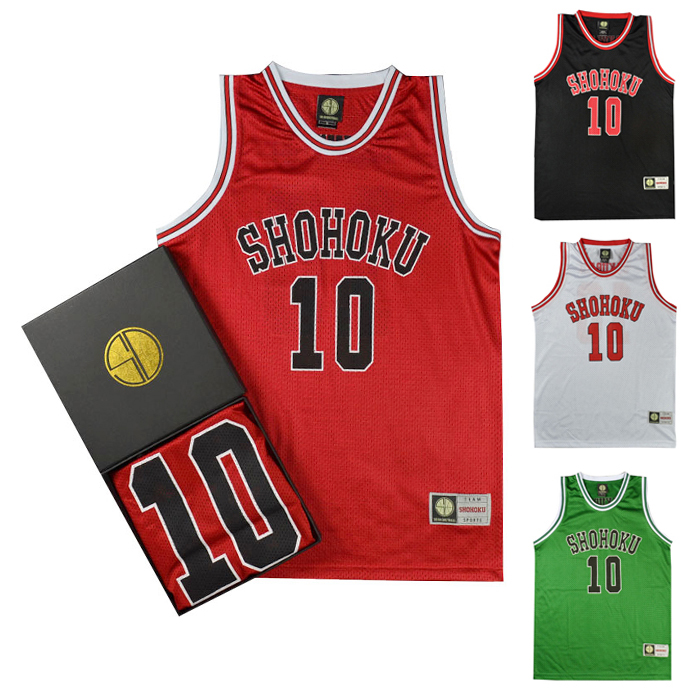 Anime Slam Dunk Cosplay Costume Shohoku Sakuragi Hanamichi Basketball Jersey T Shirt Sport Wear School Basketball Team Uniform(China)