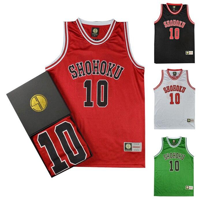 Anime Slam Dunk Cosplay Costume Shohoku Sakuragi Hanamichi Basketball Jersey T Shirt Sport Wear School Basketball Team Uniform