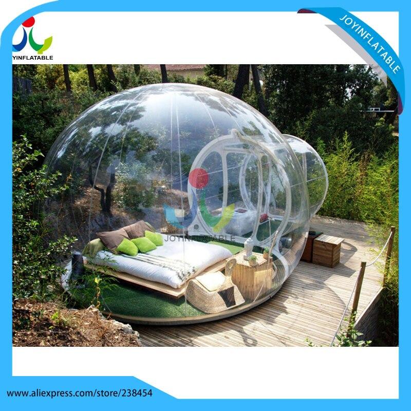 Livraison gratuite 6X8 M gonflable Transparent Camping bulle Globe tente pour extérieur Show House