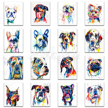 Full Round Diamond mosaic French Bulldog DIY 3D painting Cross stitch dog Square embroidery color animal #