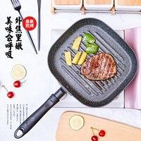 Justcook 22x24 см без масла-дым Пан сковорода для стейка сковорода гриль завтрак жарки яиц сковорода антипригарная