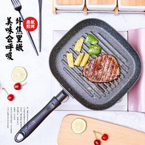 Image 1 - Justcook 22x24CM patelnie do grilla stek non stick patelnia do smażenia w kuchni jajka do gotowania patelnie do steków