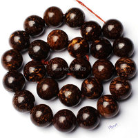 Free Shipping 14mm Smooth Natural Brown Color Bronzite Stone Round Shape Loose Beads Strand 15 Jewellery