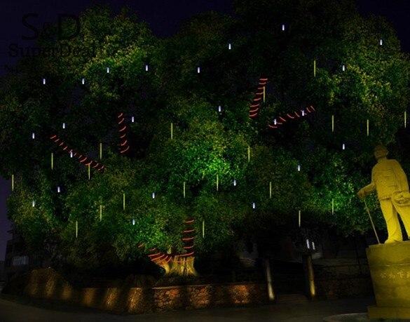Elifine 50 см Романтический Метеоритный Дождь Трубы LED Рождество Свадебные украшения сада свет шнура 100-240 В/ eu белый #30-20