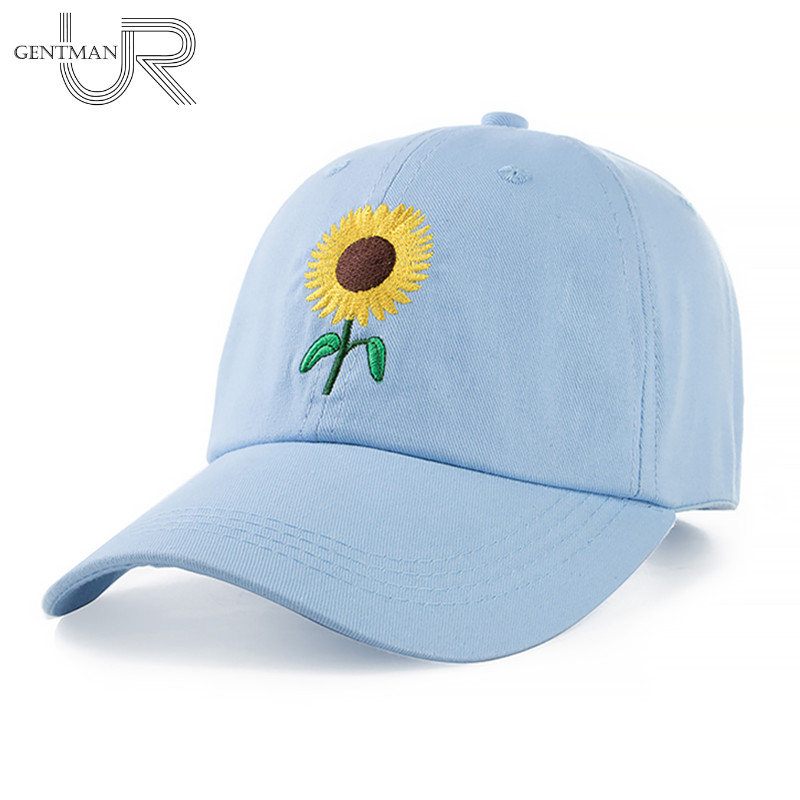 New Fashion Sunflower Embroidery Baseball Caps Cotton Snapback Hats Caps For Men Women Adjustable Couple Cap new unisex 100% cotton outdoor baseball cap russian emblem embroidery snapback fashion sports hats for men