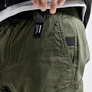 Image 3 - SIMWOOD חדש 2019 מכנסי קזואל גברים אופנה היפ הופ Streetwear כותנה מותג בגדי קרסול אורך מכנסיים זכר מכנסיים גברים 190056