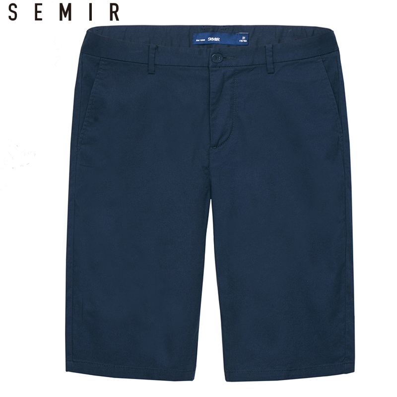 SEMIR Brand Short leisure male 2018 summer Male Solid color Knee Length Short men Bussiness Shorts