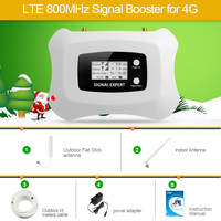 LCD display !Mini Smart 2100 MHz 3G Cell phone Amplifier 3G repeater UMTS 3G cellular signal booster amplifier kit for 3G