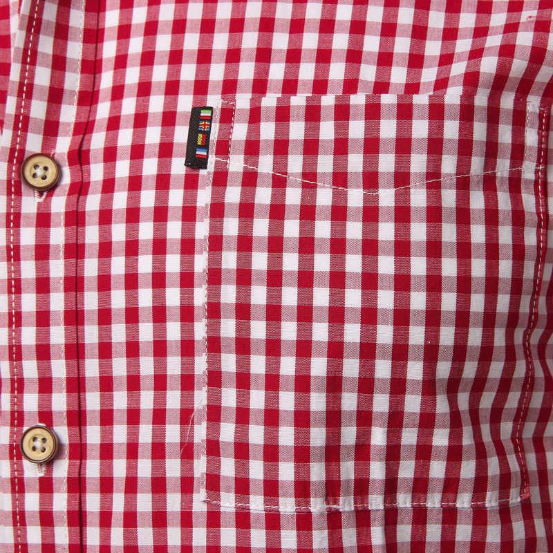 小さな格子縞のシャツ夏新半袖コットンメンズドレスシャツカジュアルボタンダウンシュミーズオムカミーサ Masculina 4XL
