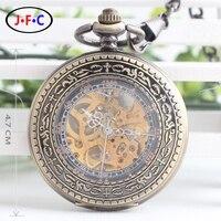 Rzym przezroczyste szkło powiększające szkło pokrywa pełne automatyczne mechaniczny zegarek retro rzeźbione brązu zegarek mężczyzn i kobiet studentów