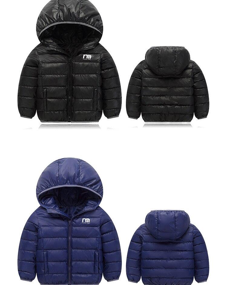 Jaqueta de algodão quente para meninos e