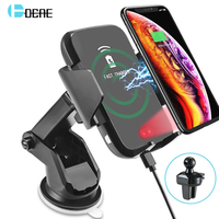 10W Automatic Clamping Qi Wireless Car Charger Mount QC 3.0 Fast Charging Phone Satnd Holder For IPhone XS XR X 8 Samsung S10 S9